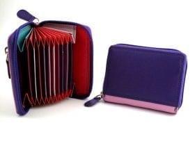 RFID Multi-colour Concertina Card Case