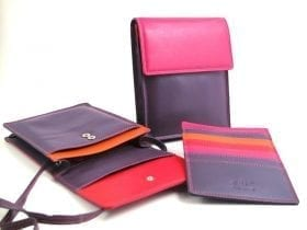 RFID Multi-colour Neck Purse