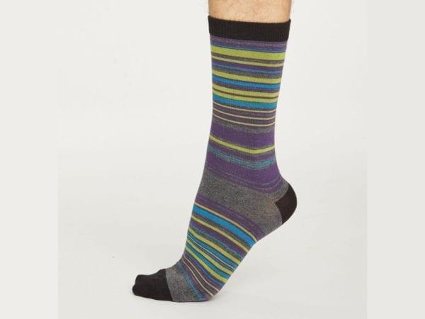 Grey Stripe Bamboo socks