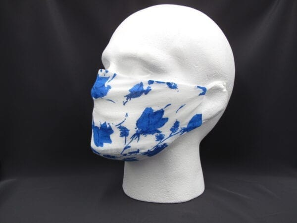 Face Mask - Blue Flowers