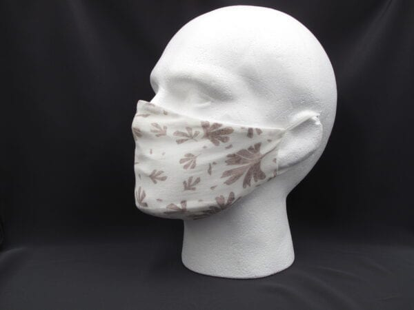 Face Mask - Brown Leaves