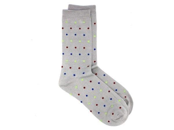 spotty bamboo socks grey/multi