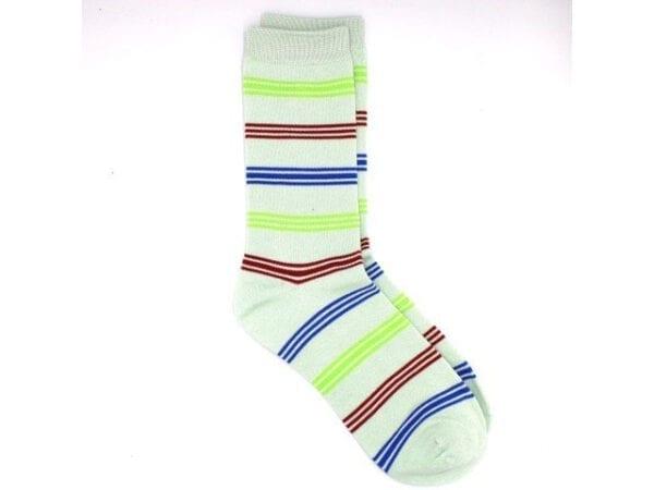 stripey bamboo socks in grey/multi