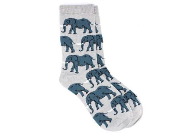 elephant bamboo socks grey