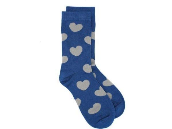 hearts bamboo socks in blue
