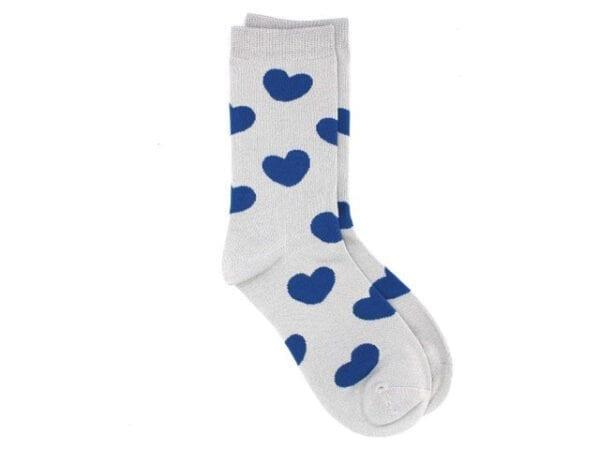 hearts bamboo socks in grey