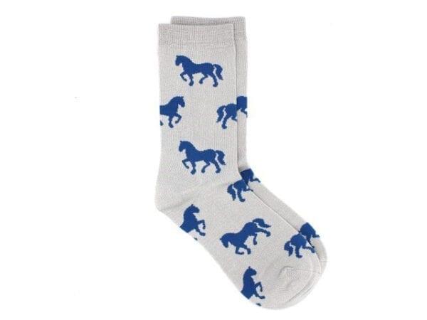 horses bamboo socks in grey
