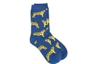 tigers bamboo socks in blue
