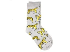 tigers bamboo socks in grey