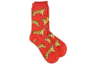 tigers bamboo socks in red